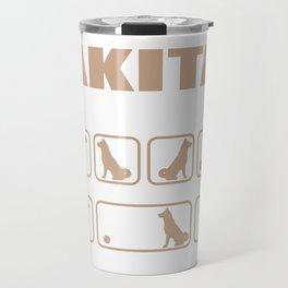 Stubborn Akita Tricks design Travel Mug