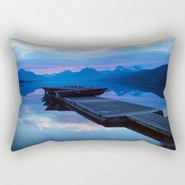 Lake MacDonald Morning Rectangular Pillow