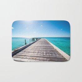 Turks and Caicos beach pier Bath Mat