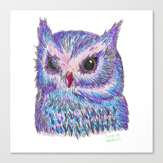 Tropical Owl by artbyalisonlove