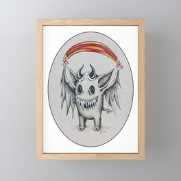 Happy Rainbow of Hellfire Framed Mini Art Print