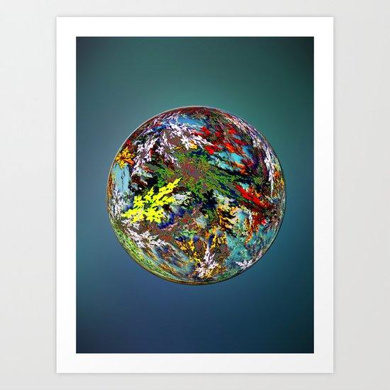 Hippies' Planet Art Print