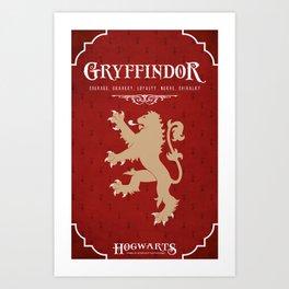Gryffindor House Poster Art Print