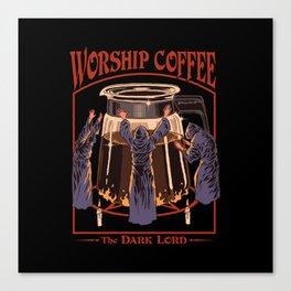 Worship Coffee Canvas Print