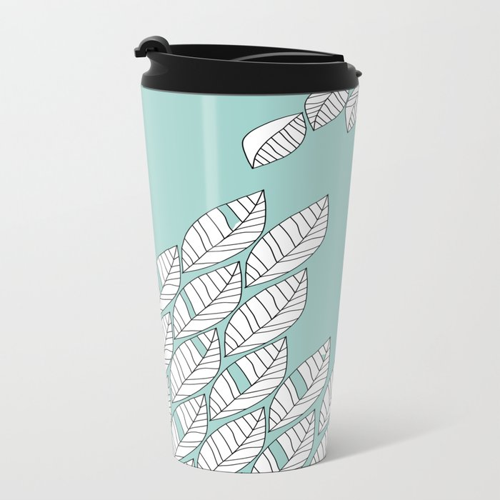 Leaves Stream 2 Metal Travel Mug