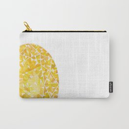 Yellow Oval Gem Carry-All Pouch