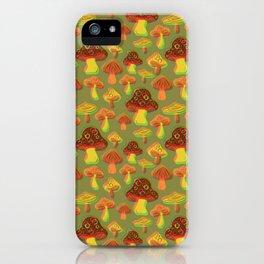 Mushroom Print in 3D iPhone Case