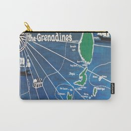 St. Vincent & Grenadines Sailing Map Carry-All Pouch