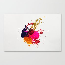 Paint Splatter Canvas Print