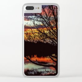 Halibut Point Sunset Clear iPhone Case