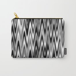 WAVY #1 (Black, White & Grays) Carry-All Pouch