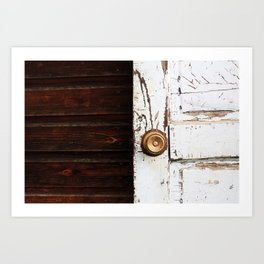 Farm Door Art Print