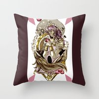 tarot Throw Pillows featuring Emperess Tarot by A Hymn To Humanity