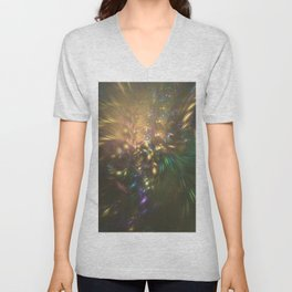 Golden splash Unisex V-Neck