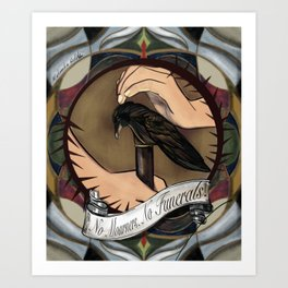 Six of Crows: The Staff with a Crow Head Art Print