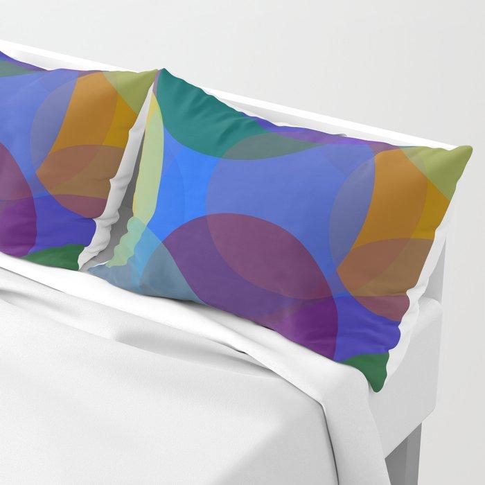 Circulos de colores Pillow Sham