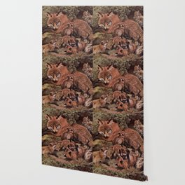 Vintage Fox and Cuba Painting (1909) Wallpaper
