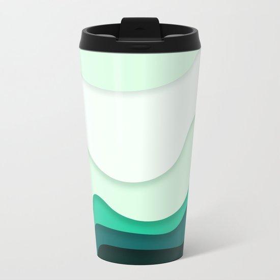 Pastel Waves Metal Travel Mug