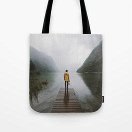 Mountain Lake Vibes - Landscape Photography Tote Bag