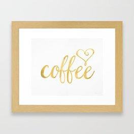 Coffee gold Framed Art Print