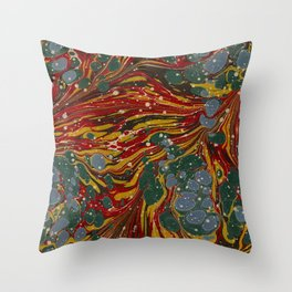 Melting Marbled Paper Throw Pillow