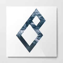 Romantic Miscreants Logo: Mountain Metal Print
