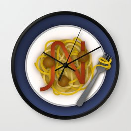 N is for Noodles. Wall Clock