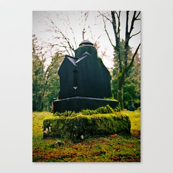 Graveyard green Canvas Print