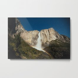 Yosemite Falls Night Metal Print