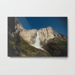 Yosemite Falls Night Metal Print
