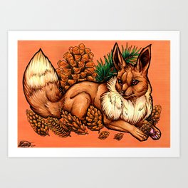 Evolve the Rainbow - Eevee Art Print