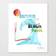 Summer at the Beach House Canvas Print