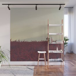 Field of Red Wall Mural