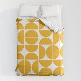 Mid Century Modern Geometric 04 Yellow Bettbezug