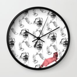 Gulo gulo pattern (c) 2017 Wall Clock