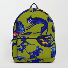 Halloween Witches on Brooms & Jack-O-Lantern Pattern Backpack