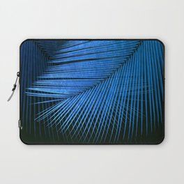 Palm leaf synchronicity - metallic blue Laptop Sleeve