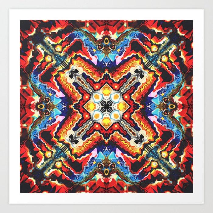 Colorful Tribal Motif Art Print