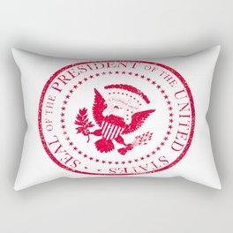 Presedent Seal Ruber Stamp Rectangular Pillow