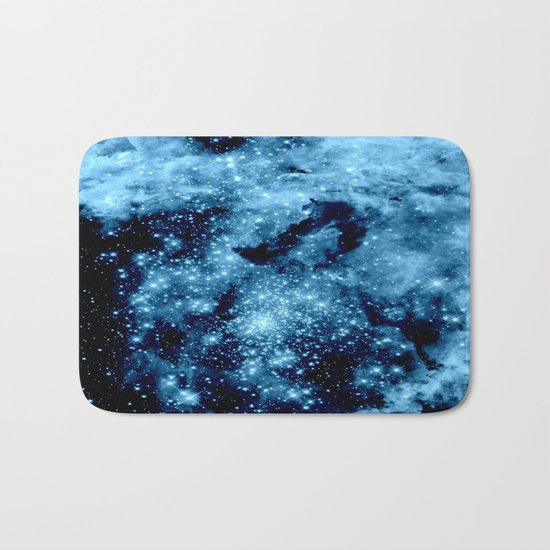 Blue Galaxy Nebula Bath Mat