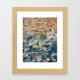 From the Acropolis - Watercolor and Ink on Paper - 2012 Framed Art Print