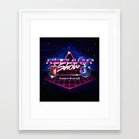 regular show Framed Art Prints featuring Regular 80's Show by Gazulo Marquez