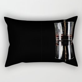 glass on black Rectangular Pillow