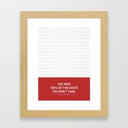 Lab No. 4 - Wayne Gretzky Hockey Player Quotes Poster Framed Art Print