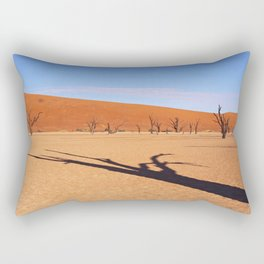 Shadow in the Dead Vlei - Namibia Rectangular Pillow