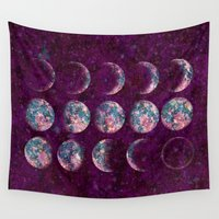 celestial Wall Tapestries featuring Celestial Moons by Bohemian Gypsy Jane