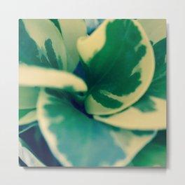 Foliage Swirl Metal Print