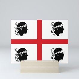 sardinia island italy country region flag Mini Art Print
