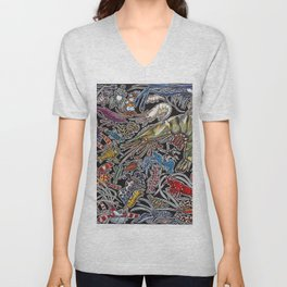 Prawns, gambas and shrimps for ocean lovers, marine biologists and scuba divers Unisex V-Neck