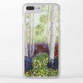 Birch Trees in Heaven Clear iPhone Case